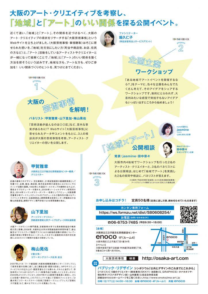広教エリア:大阪芸術事情・事情聴取