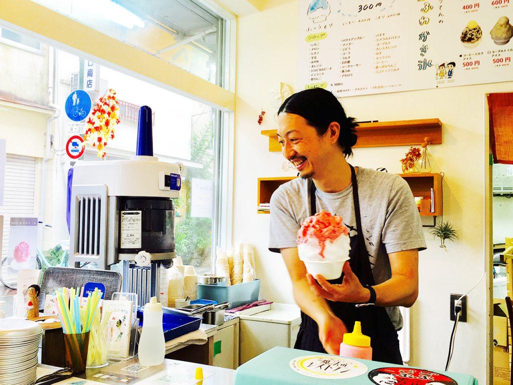 淀川区十三エリア:野口商店のかき氷